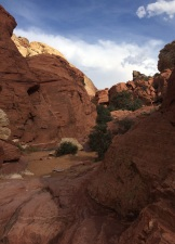 The rocks that lend the name to Red Rock