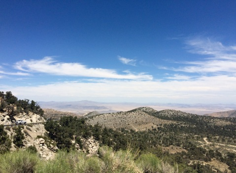 On our way to the Big Bear Lake, overlooking a stretch of the Pacific Crest Trail