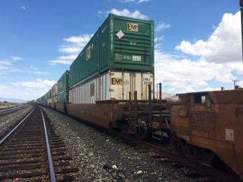 There are freight trains with literally hundreds of meters crossing the desert