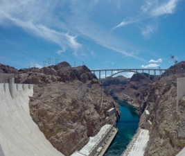 The Colorado River Bridge, next to the Hoover Dam, is an engineering wonder by its own