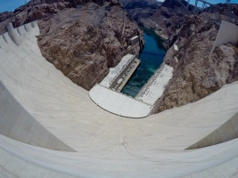 Looking down the Hoover Dam is not a good idea if you don't like heights
