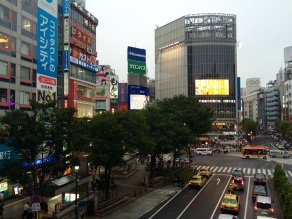 The 'scramble', probably Tokyo's most famous intersection