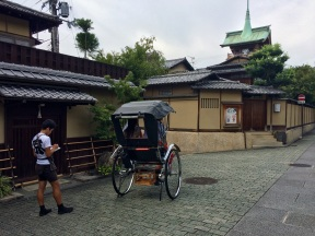There were times when these rickshaws were the main form of transportation in Kyoto...