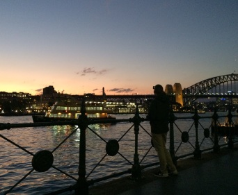 Sydney Harbor at nightfall
