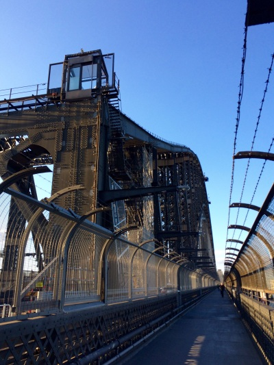 The steel structure of the Harbor bridge (or 'Coathanger', as the locals call it)
