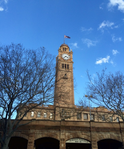 Clock tower in Sydney central train station