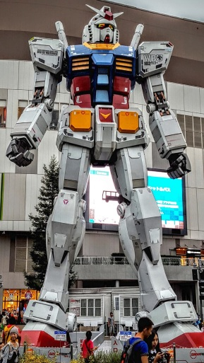 The giant Gundam robot statue. Just don't call it a Transformer!