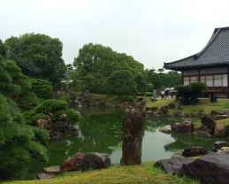 The beautiful and serene garden surrounding the Nijo Castle