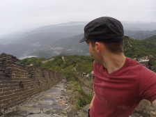 Verne hikes the 'Wild Wall' on a rainy day