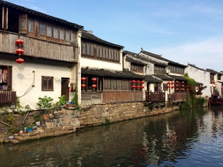 A view of the houses facing one of the canals in Suzhou. Much appropriately it is called the Venice of China