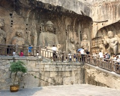 The Vairocana Buddha is the main attraction at the Longmen Grottoes...