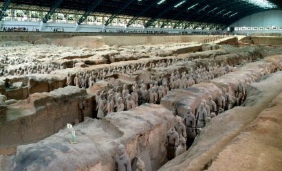 The Terracotta Army could be an Indiana Jones sequel: from the estimated 8,000 total warriors, only 2,000 were excavated so far