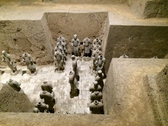 Discovered only in 1974, the Terracotta Army site is half exhibit, half excavation grounds. It will probably look very different 20 years from now!