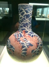 A Ming vase (on second thought, it might be from the Qing Dynasty. Should listen to Jules when she warns me to photograph the legends too!)
