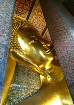 Reclining Buddhas represent Buddha in his death bed, before ascending to parinirvana