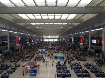 Everything in Shanghai is massive and busy. This is the high-speed train terminal