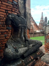 Ayutthaya Was destroyed by the Burmese army in the 18th century, and the temple was not spared