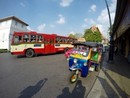 Riding a tuk-tuk in Bangkok is a must!