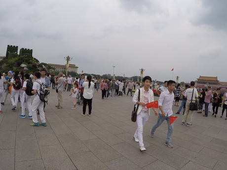Most of the tourists in Beijing seem to come from other parts of China