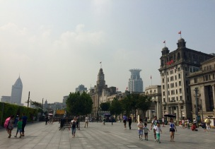 ... Is a nice spot to contrast Shanghai's old and new style buildings