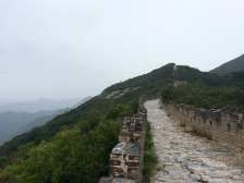 Close to the end of the Mutianyu restored section, sits the 'Wild Wall'