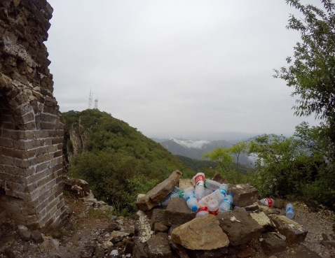 Unfortunately the Great Wall is not immune to littering...
