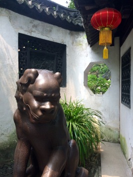 Lions, or 'Shi', are an important part of Chinese tradition. Lion statues are most typically seen at the entrance of buildings, acting as guardians