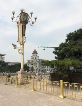 You're never alone at Tiananmen Square: five security cameras in this lamp post alone!