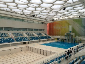 The pool where 25 world records were broken was apparently undergoing maintenance