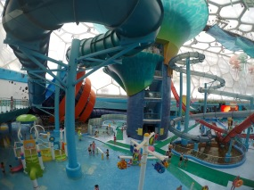 A part of the center was made into a water park after the Olympic Games