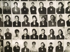 The images of those who perished in S-21 cover the walls of the Tuol Sleng Genocide Museum
