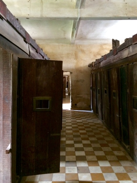 The minimal dimensions of the prison cells maximised the discomfort of the prisoners