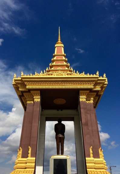 Monument honouring King Norodom Sihanouk, in Phnom Penh's city centre