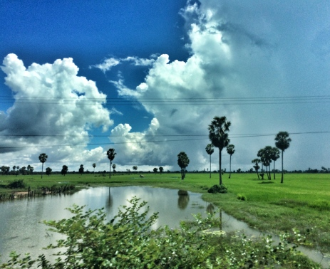 Our bus ride from Siem Reap to Phnom Penh