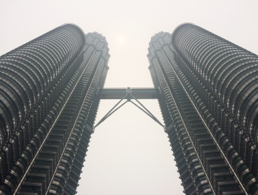 The Petronas Towers was the tallest building till 2004, when Taipei 101 was built