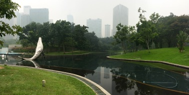 The KLCC Park is a nice place to hang out...