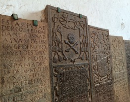 Portuguese tombstones in St. Paul's Church