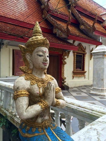 One of the many Buddha statues that you'll find in Wat Phrathat Doi Suthep