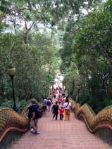 Never ending stairs to the Wat Phrathat Doi Suthep temple