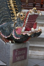 Dragon head in the Wat Phrathat Doi Suthep temple (mom looked pretty pissed)