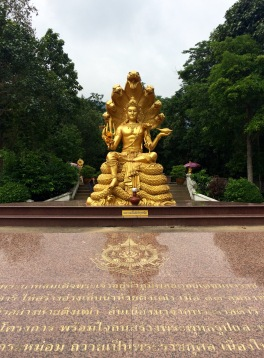 He found a nice trek near this Golden Buddha...
