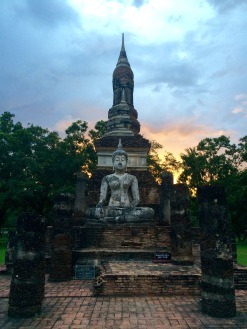 Sunset in Sukhothai