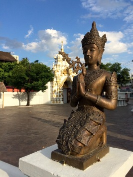 Inside the Wat Chedi Luang Temple