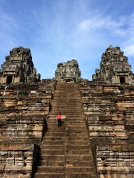 Many international teams are involved in the restoration and conservation of Angkor. This temple - Ta Keo - is being restored by a Chinese team