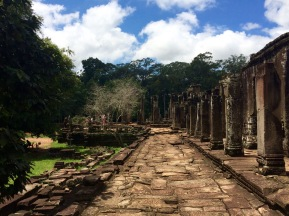 Outer terrace of the Bayon temple