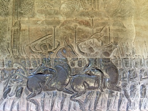 Many cultures think it brings good luck to touch the wall reliefs, resulting in the polished look seen here. Nowadays barriers stand between the reliefs and the visitors