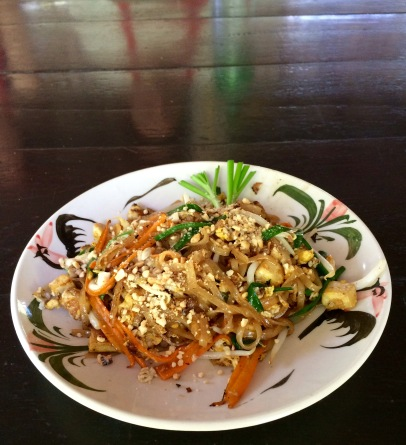 Et voilá! A delicious Pad Thai cooked by Chef Jules
