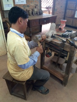 The Artisans Angkor trains and employs local handicraft artisans