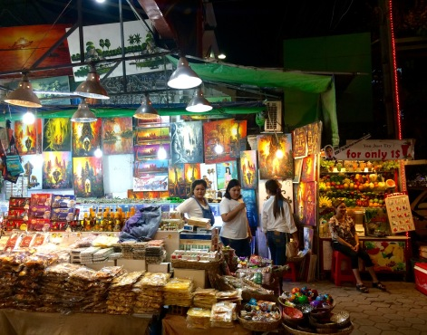 The Siam Reap night market