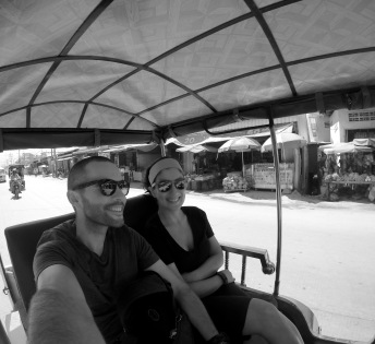 Phnom Pehn is not as confusing and chaotic as Bangkok, but still, a tuk tuk ride is always a thrill!